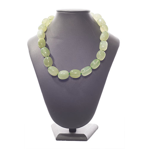 COLLIER PIERRES ROULÉES  NEW JADE