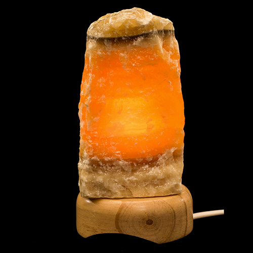 LAMPE CALCITE ORANGE BRUTE